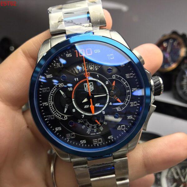 Réplica de relógio Tag Heuer Mercedes Benz SLZ Aço – Prata/Preto