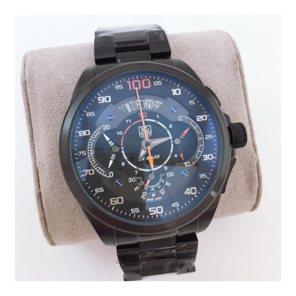 Réplica de relógio Tag Heuer Mercedes Benz SLZ Aço – Preto