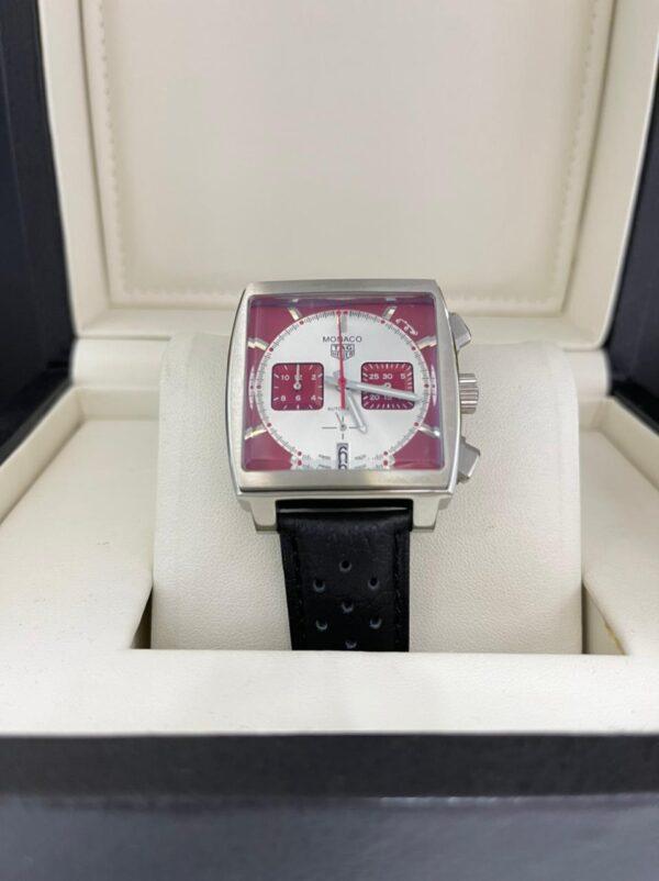 Réplica de relógio Tag Heuer Monaco Couro – Vermelho