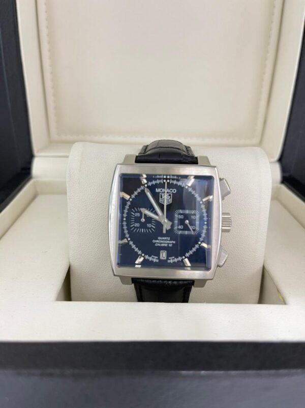 Réplica de relógio Tag Heuer Monaco Couro – Azul Marinho