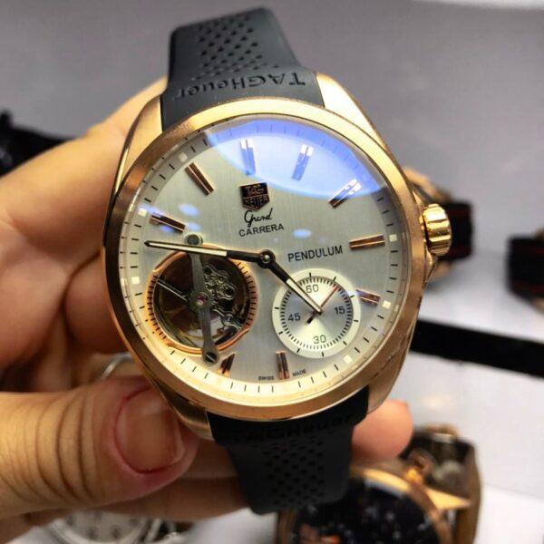Réplica de relógio Tag Heuer Pendulum Borracha – Dourado
