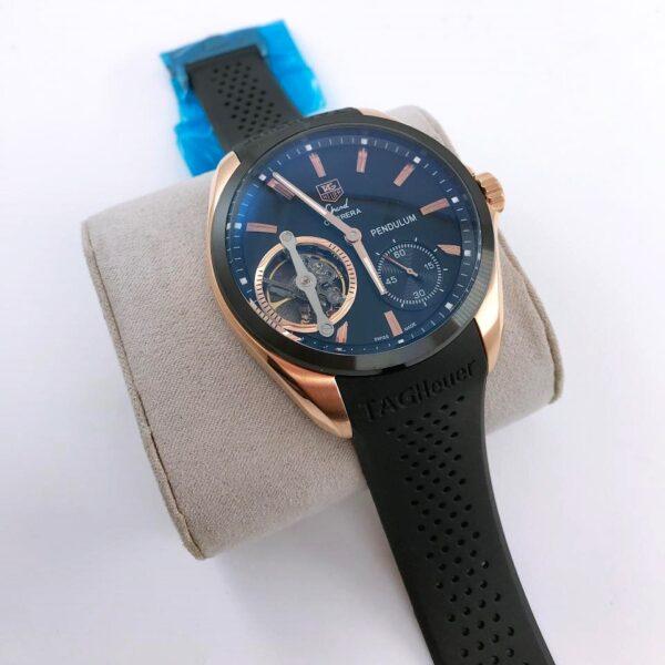Réplica de relógio Tag Heuer Pendulum Borracha – Preto