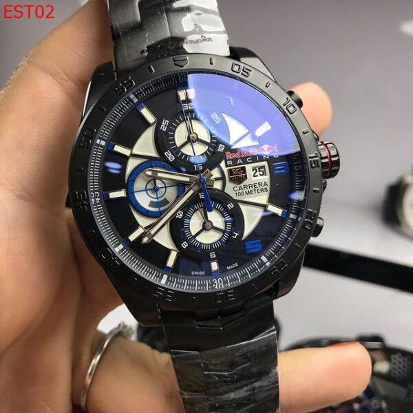 Réplica de relógio Tag Heuer RedBull Aço – Preto/Azul