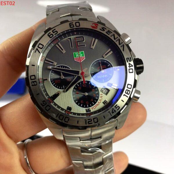 Réplica de relógio Tag Heuer Senna Aço – Onix