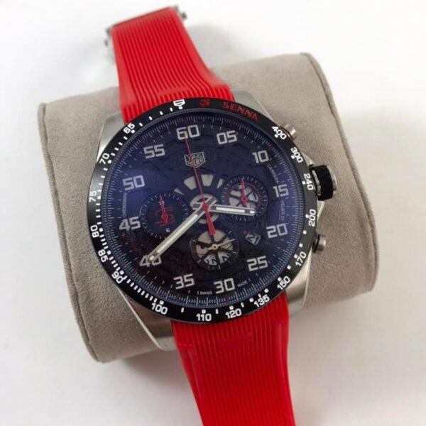Réplica de relógio Tag Heuer Senna Borracha – Vermelho