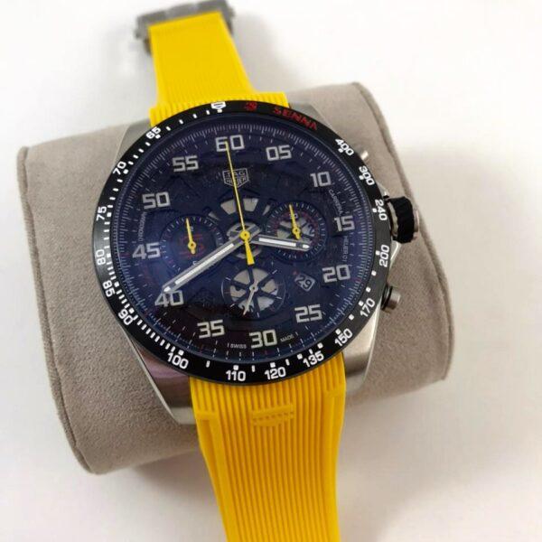 Réplica de relógio Tag Heuer Senna Borracha – Amarelo
