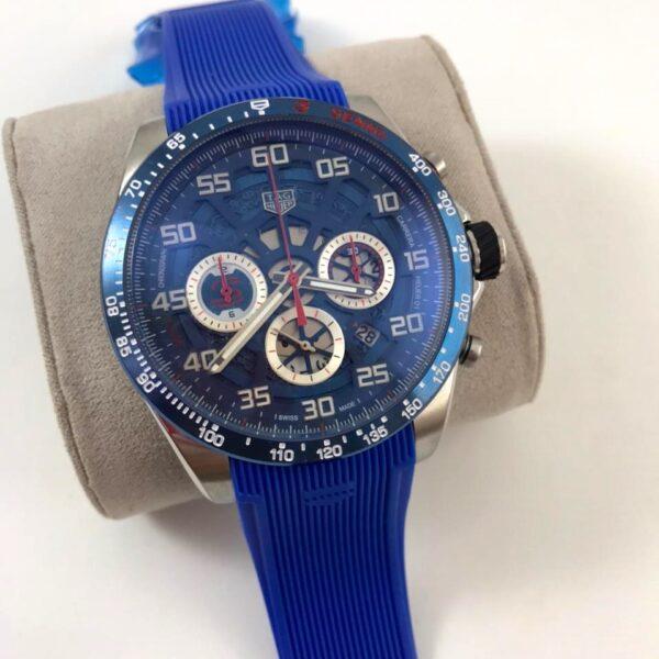 Réplica de relógio Tag Heuer Senna Borracha – Azul