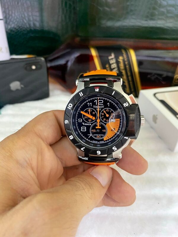 Réplica de relógio Tissot T-RACE Laranja