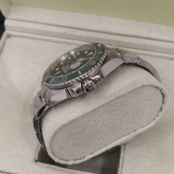 Réplica de relógio Rolex Submariner Prata/Verde 2